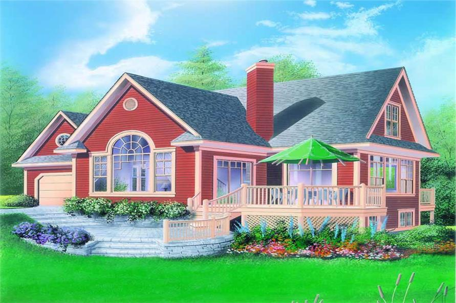3-Bedroom, 2497 Sq Ft Country House Plan - 126-1298 - Front Exterior