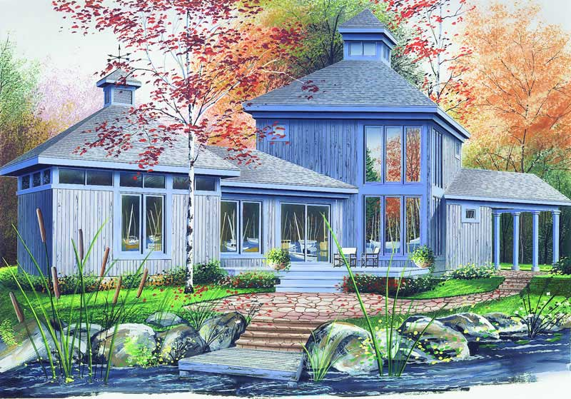 Contemporary, Vacation Homes House Plans