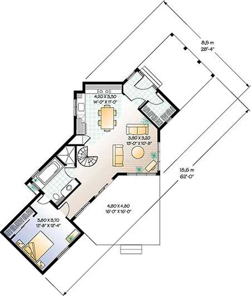 Contemporary vacation homes house plans home design dd for 126 simcoe floor plan