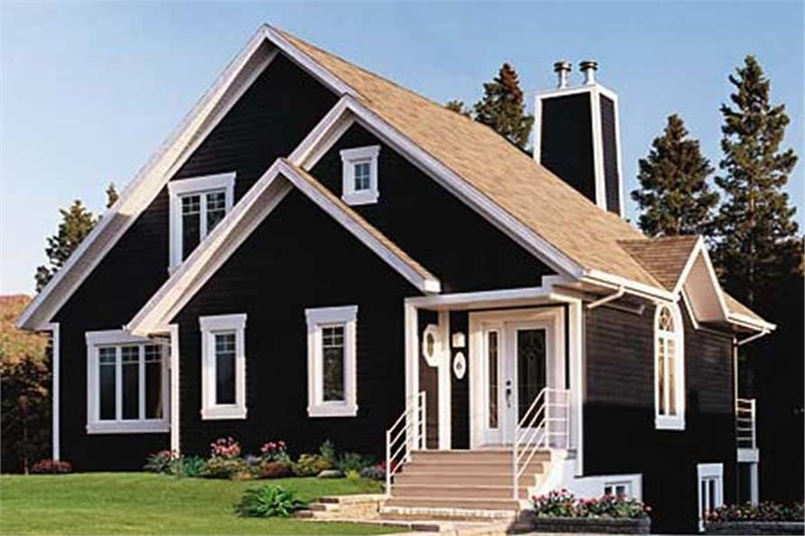 3-Bedroom, 1468 Sq Ft Country House Plan - 126-1304 - Front Exterior