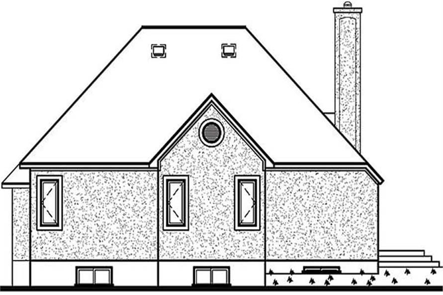 Home Plan Rear Elevation of this 2-Bedroom,1231 Sq Ft Plan -126-1307