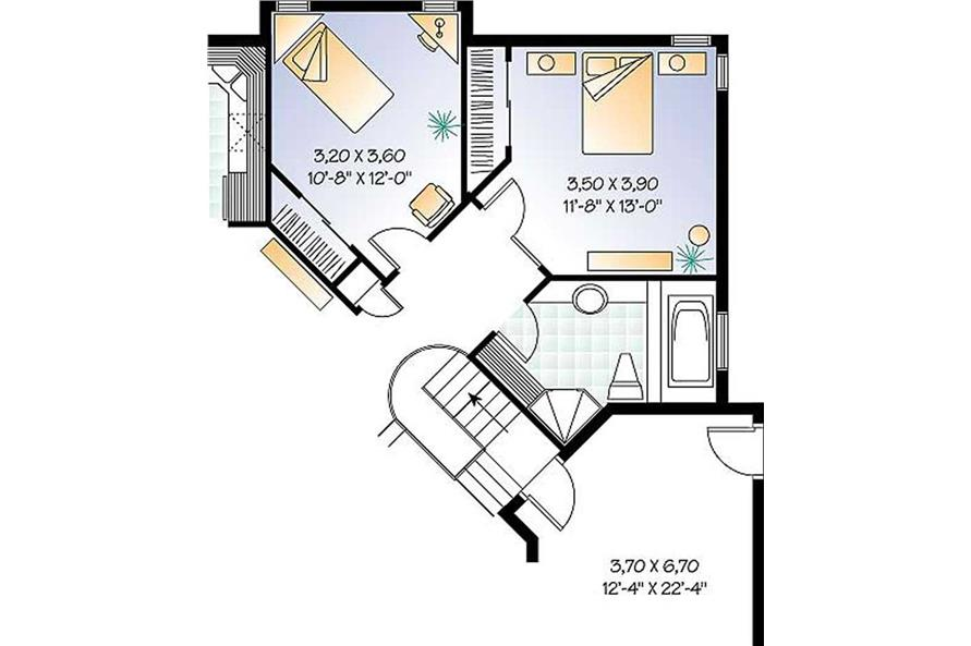 Optional Two Bedroom Plan of this 2-Bedroom,1231 Sq Ft Plan -1231