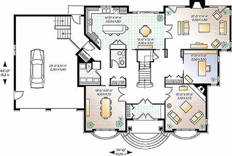Contemporary home plan 4 bedrms 3 5 baths 4200 sq ft for 4200 sq ft house plans