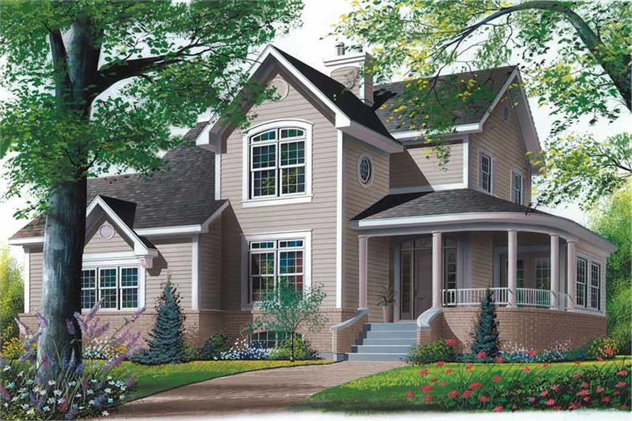 4-Bedroom, 2333 Sq Ft Country House Plan - 126-1313 - Front Exterior