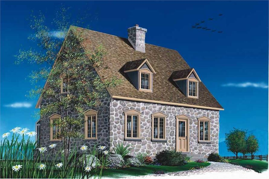 2-Bedroom, 1438 Sq Ft Country House Plan - 126-1315 - Front Exterior