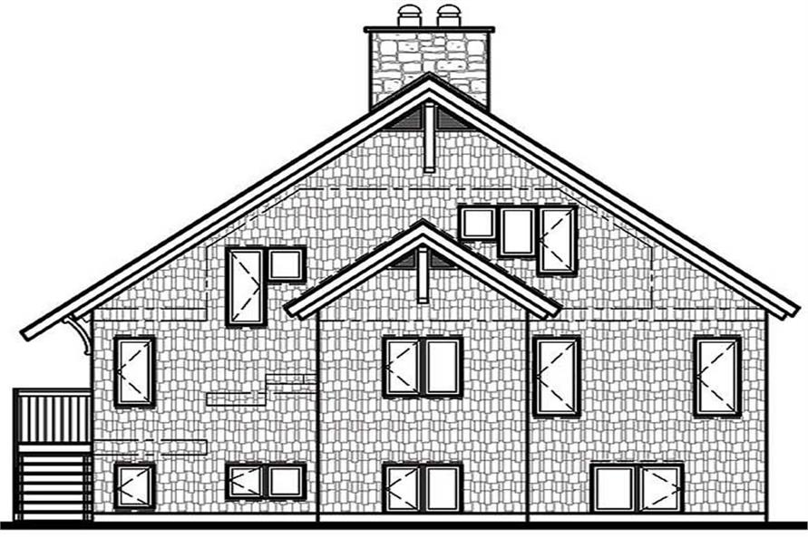 Home Plan Rear Elevation of this 3-Bedroom,2243 Sq Ft Plan -126-1316
