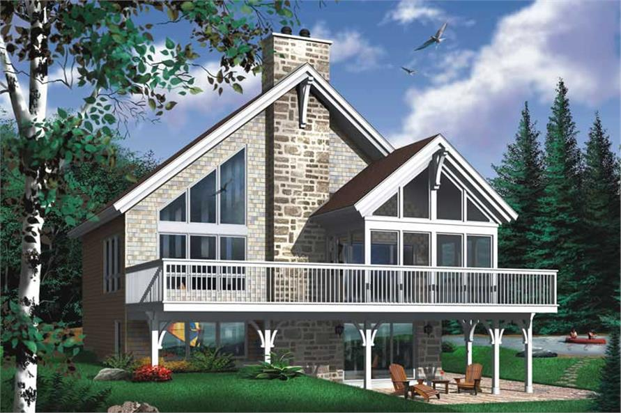 3-Bedroom, 2243 Sq Ft Coastal Home Plan - 126-1316 - Main Exterior