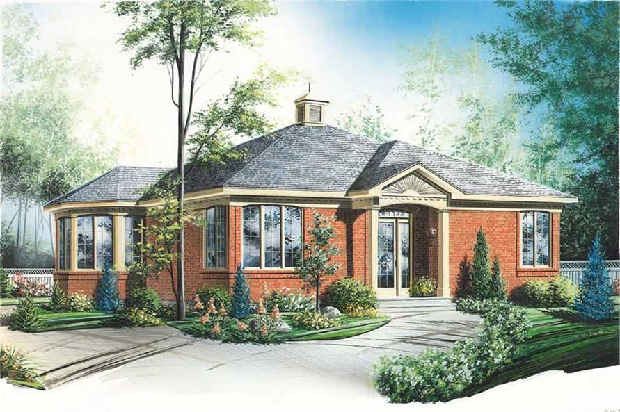 2-Bedroom, 1085 Sq Ft Ranch House Plan - 126-1320 - Front Exterior