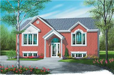 2-Bedroom, 1064 Sq Ft Ranch House Plan - 126-1321 - Front Exterior