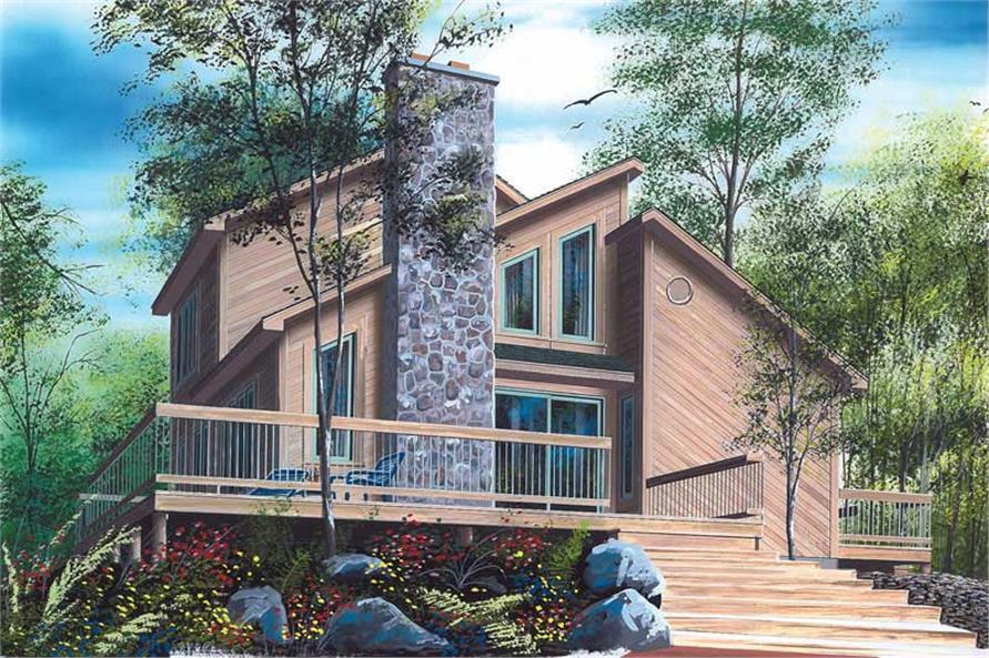 Home Plan Rendering of this 3-Bedroom,1516 Sq Ft Plan -126-1323