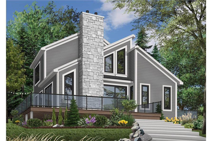 3-Bedroom, 1516 Sq Ft Contemporary Home Plan - 126-1323 - Main Exterior