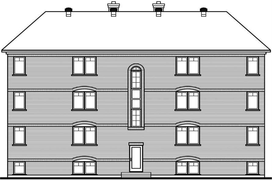 Home Plan Rear Elevation of this 2-Bedroom,7624 Sq Ft Plan -126-1325