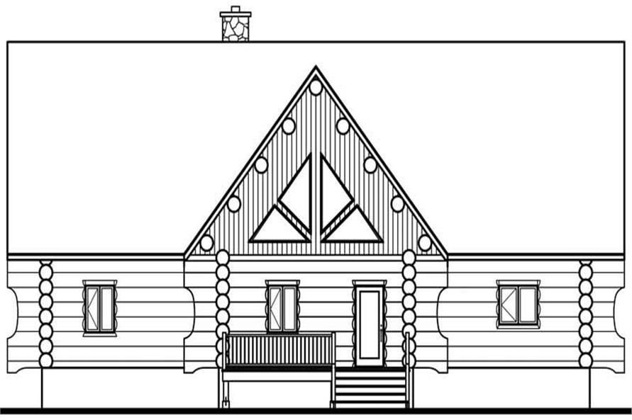 Home Plan Rear Elevation of this 4-Bedroom,3493 Sq Ft Plan -126-1327