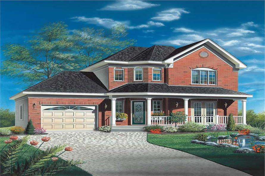 3-Bedroom, 1404 Sq Ft Contemporary Home Plan - 126-1328 - Main Exterior