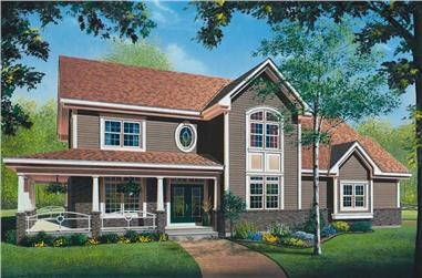 4-Bedroom, 2764 Sq Ft Country Home Plan - 126-1332 - Main Exterior