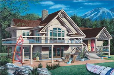 3-Bedroom, 1932 Sq Ft Contemporary Home Plan - 126-1333 - Main Exterior