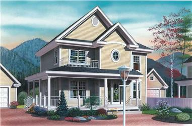 3-Bedroom, 1604 Sq Ft Country Home Plan - 126-1337 - Main Exterior