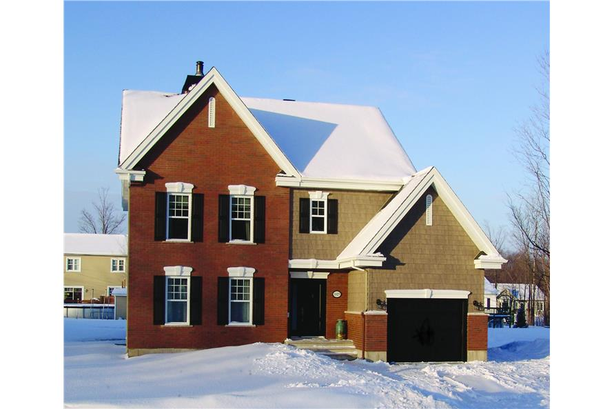 3-Bedroom, 1807 Sq Ft Country Home Plan - 126-1340 - Main Exterior