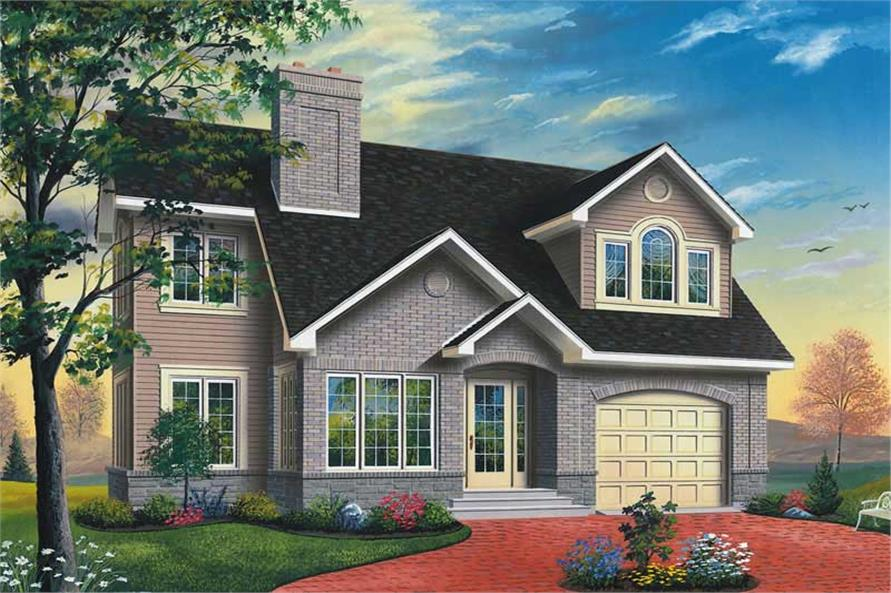 3-Bedroom, 1960 Sq Ft Traditional House Plan - 126-1343 - Front Exterior