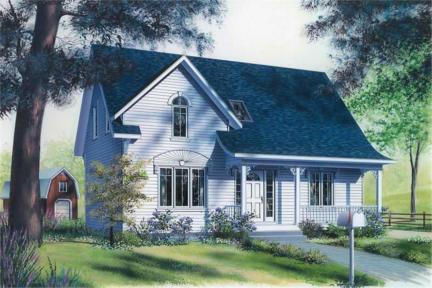 3-Bedroom, 1458 Sq Ft Country Home Plan - 126-1348 - Main Exterior