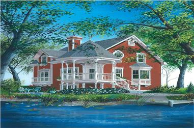 3-Bedroom, 1444 Sq Ft Country Home Plan - 126-1350 - Main Exterior