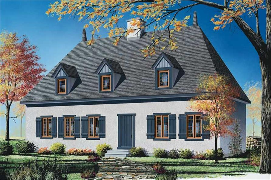 4-Bedroom, 2496 Sq Ft Country Home Plan - 126-1352 - Main Exterior