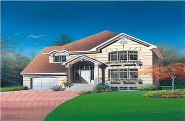 3-Bedroom, 1539 Sq Ft Contemporary Home Plan - 126-1354 - Main Exterior