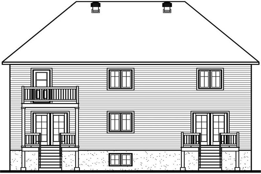 Home Plan Rear Elevation of this 2-Bedroom,4576 Sq Ft Plan -126-1357