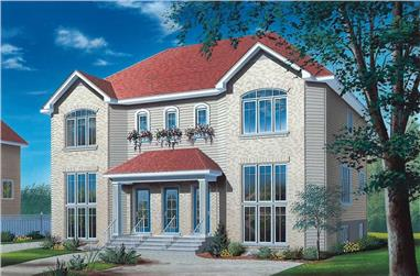 2-Bedroom, 4576 Sq Ft Multi-Unit House Plan - 126-1357 - Front Exterior
