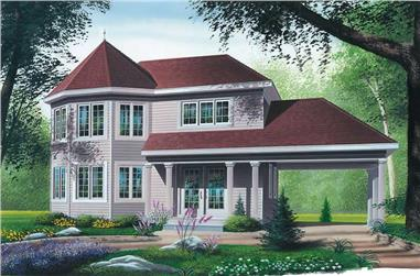 3-Bedroom, 1544 Sq Ft Victorian House Plan - 126-1360 - Front Exterior