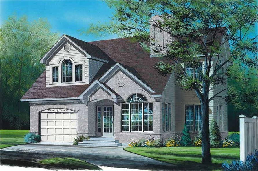 3-Bedroom, 1909 Sq Ft Contemporary House Plan - 126-1361 - Front Exterior