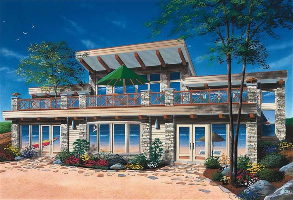 This is a computer rendering of these Coastal Homeplans.