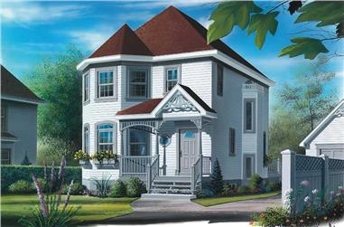 3-Bedroom, 1584 Sq Ft Small House Plans - 126-1365 - Front Exterior