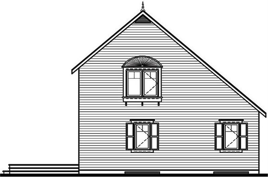 Home Plan Rear Elevation of this 3-Bedroom,1295 Sq Ft Plan -126-1366