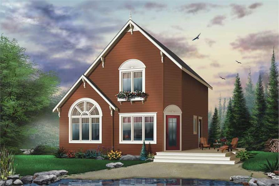 3-Bedroom, 1295 Sq Ft Contemporary House Plan - 126-1366 - Front Exterior
