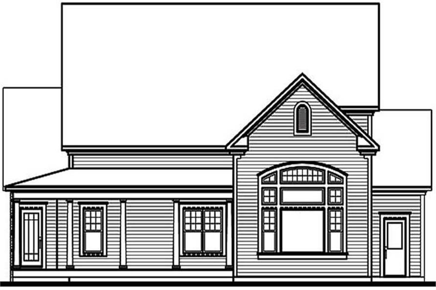 Home Plan Rear Elevation of this 4-Bedroom,3085 Sq Ft Plan -126-1370