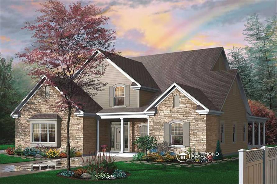 4-Bedroom, 3085 Sq Ft Contemporary House Plan - 126-1370 - Front Exterior