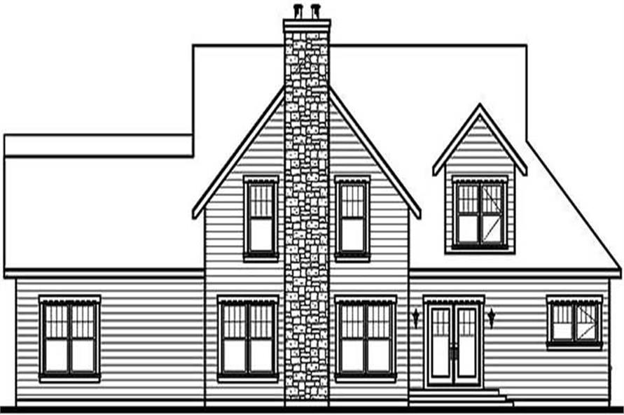 Home Plan Rear Elevation of this 4-Bedroom,3719 Sq Ft Plan -126-1371
