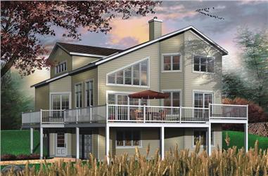 3-Bedroom, 1737 Sq Ft Contemporary Home Plan - 126-1373 - Main Exterior