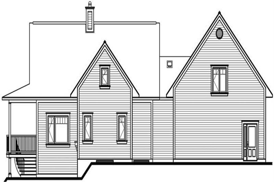 Home Plan Rear Elevation of this 3-Bedroom,2219 Sq Ft Plan -126-1374