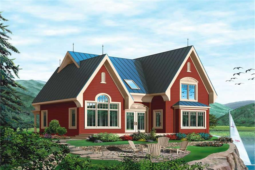 3-Bedroom, 1498 Sq Ft European House Plan - 126-1375 - Front Exterior