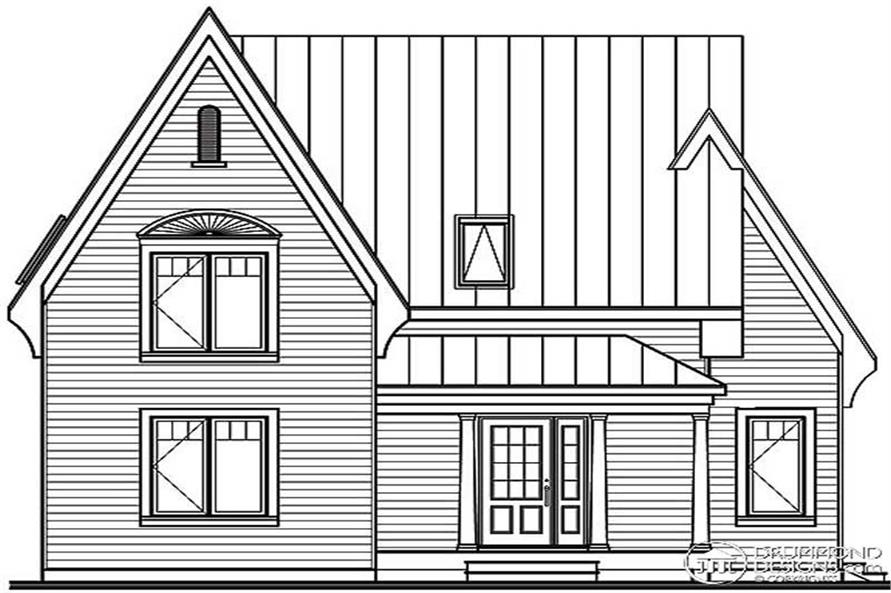 Home Plan Front Elevation of this 3-Bedroom,1498 Sq Ft Plan -126-1375