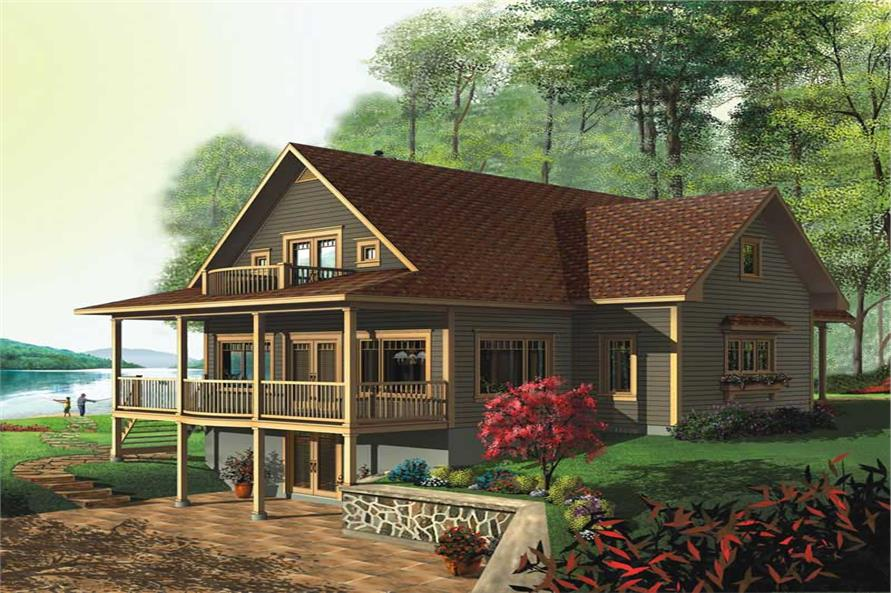 3-Bedroom, 2393 Sq Ft Country House Plan - 126-1376 - Front Exterior