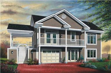 3-Bedroom, 2307 Sq Ft Contemporary House Plan - 126-1379 - Front Exterior
