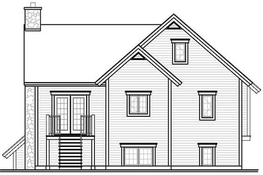 Home Plan Rear Elevation of this 3-Bedroom,2117 Sq Ft Plan -126-1380