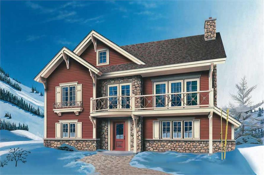 3-Bedroom, 2117 Sq Ft Contemporary House Plan - 126-1380 - Front Exterior