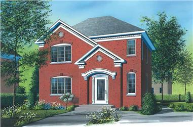 3-Bedroom, 1356 Sq Ft Traditional House Plan - 126-1381 - Front Exterior