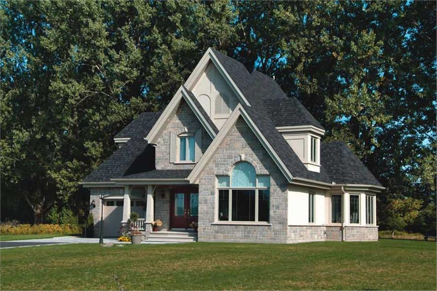 3-Bedroom, 1826 Sq Ft European Home Plan - 126-1385 - Main Exterior