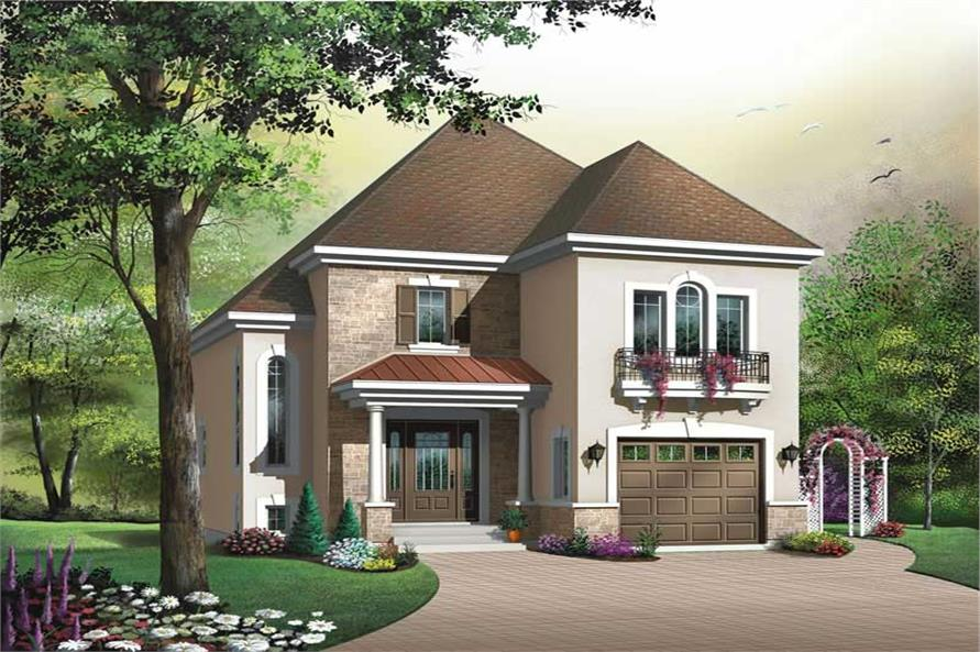 3-Bedroom, 1579 Sq Ft Contemporary Home Plan - 126-1388 - Main Exterior