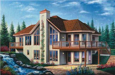 2-Bedroom, 1314 Sq Ft Country House Plan - 126-1391 - Front Exterior